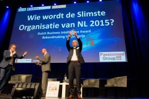 Martin Smeekes met de Dutch BI Award 2015