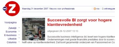 Succesvolle BI zorgt voor hogere klanttevredenheid